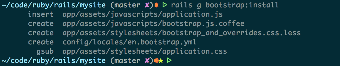 install bootstrap output